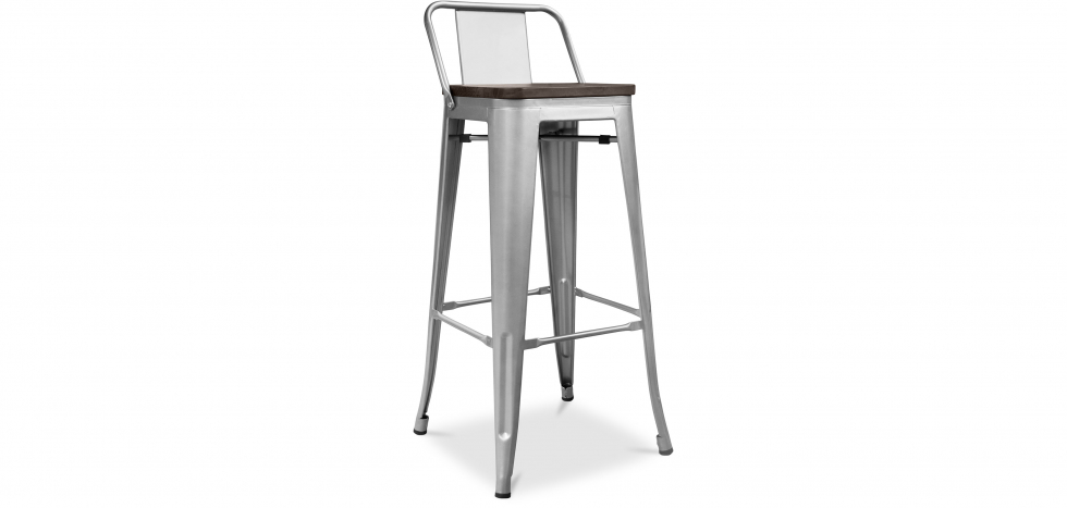 Buy Tolix stool Wooden and small backrest Pauchard Style - 76 cm Steel 59118 - in the EU