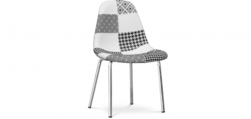 Buy DESWICK chair Patchwork   - Style White / Black 59383 - in the EU
