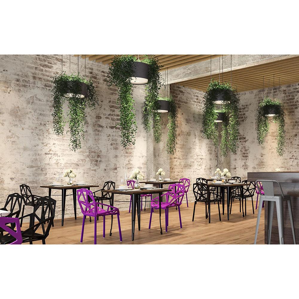 Buy Tolix Style Dining Table 80 Cm Dark Wood Steel 58995 In The Europe Privatefloor